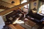 Detalle de las vigas-pendolón Casa rural la Esperilla de gredos