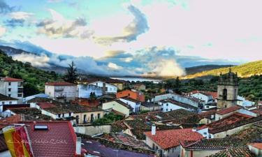 Baños de Montemayor:  Una vista parcial desde la calzada romana al inicio de su empinada ascendencia hacia la proivincia de Salamanca