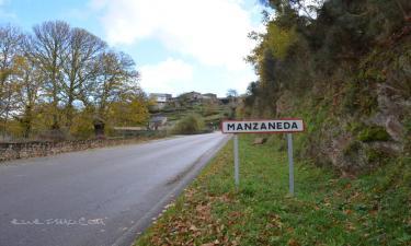 Manzaneda:  Entrada al pueblo