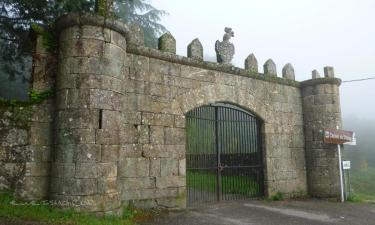 Vilasobroso:  Arco de Triunfo a la entrada del Patrimonio del Castillo de Sobroso, situado en VILASOBROSO (Pontevedra)