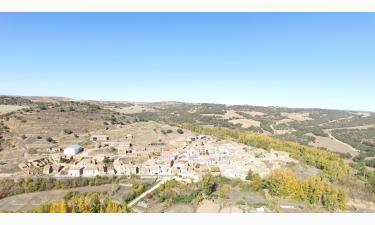 Velilla de los Ajos:  Vista aérea desde la Peñaza